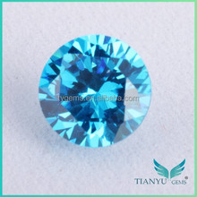 Round Cubic Zirconia / Diamond Cut Zirconia Stone / Aquamarine Prices