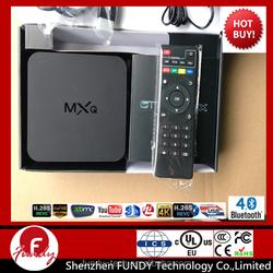 DHL Free Shipping Original MXQ TV BOX , Android TV BOX ,Quad Core Android 4.4 Smart TV box Kit 4K