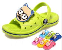 2015 new fashion kid boys and girls kids eva cartoon slippers