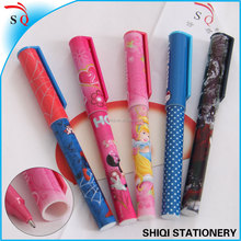 Hot-selling heat transfer print ball pen with cap promotion