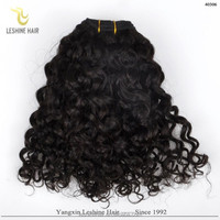Factory Wholesale No Tangle No Shed raw unprocessed virgin peruvian jerry curl weave hair