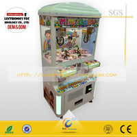 Shopping mall coin pusher toy crane machine/amusement claw crane game for adult and kids