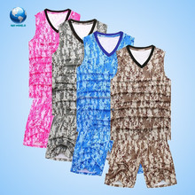 2015 new design camo basketball uniform/ China camo baksetball uniform supplier/ camo basketball uniform