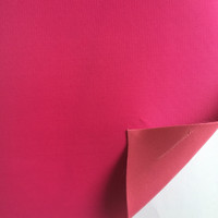 230 twill polyester taffeta foam backed pvc sythetic leather fabric for bag