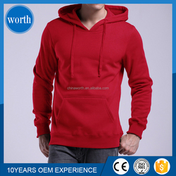 promotion no zipper hoody fleece/plain thick hoodies