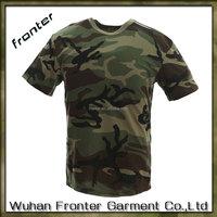 Woodland Camouflage T Shirt 100% Cotton Military Uniform