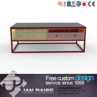 Can customized made collection end table with glass top and drawer