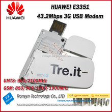 New Arrival Original Unlock DC-HSPA+ 43.2Mbps HUAWEI 3G USB Modem E3351 And 3G USB Dongle