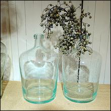 wholesale light blue decorative glass bottles