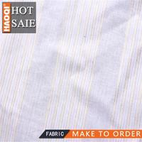 2014/2015 hot shaoxing Cotton yarn-dyed silver stripes fabric for spring&summer women`s garment