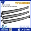 Factory direct!300W 51inch spot flood combo Curved light bar for 4WD Equipment