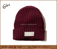 Warm Acrylic Winter Long Knitted Beanie Hat for Female