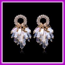 2015 Fancy Design Handmade Glass Crystal Bali Jewelry Earring For Women