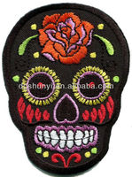 Skull tattoo biker horror goth punk emo rock retro applique/skull embroidery pattern/skull patch