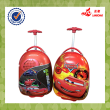 Hot Sale Red Color Red Handle Children School Bag Waterproof ABS+PC Egg Luggage Trolley Bag