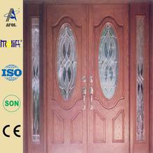2014Zhejiang Afol entry smooth or wood grain panel fiberglass panel glass insert door manufacturers