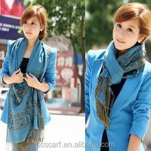 Iris Bohemian fringed pashmina scarf scarf factory china