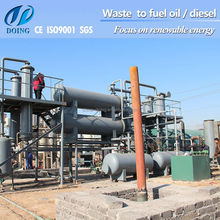 2012 Doing 5/6/8/10T pollution-free high oil yield cotinuous scrap waste tyres/plastic pyrolysis machine