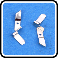 precision auto parts metal terminal spring shrapnel clips from China oem manufacturer