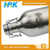 stainless steel beer glass bottle with long neck