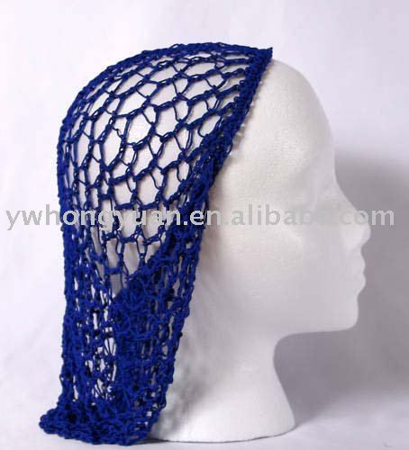 Crochet Hair On Net Cap : Crocheted Snood Cap Hair Net For Women - Buy Snood,Snood Cap,Crocheted ...