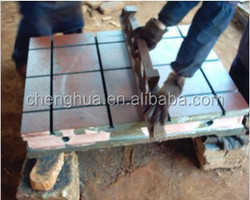 Rib Type Or Case Type Power Engine Experiment Cast Iron Floor Plate