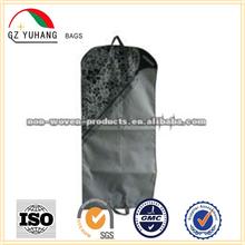 zipper non woven suit bag with handle