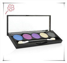 Hot seller high quality 5 colors mineral eye shadow palette