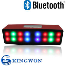 Kingwon 2015 new arrived shinning led wireless portable mini bluetooth 2.1 speaker support usb/sd card/ fm