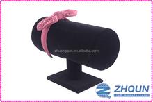Countertop MDF velvet hairband holder black