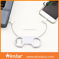 charge sync cable suit for Samsung, for HTC and most Micro USB+bottle opener