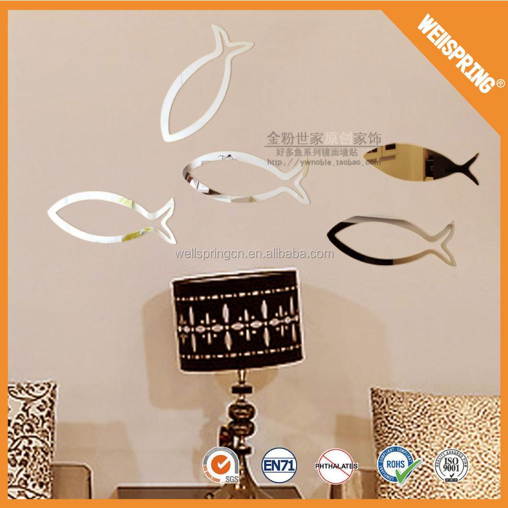 00 0010 custom diy flexible mirror sticker reflective decorative bathroom mir - Miroir stickers ikea ...