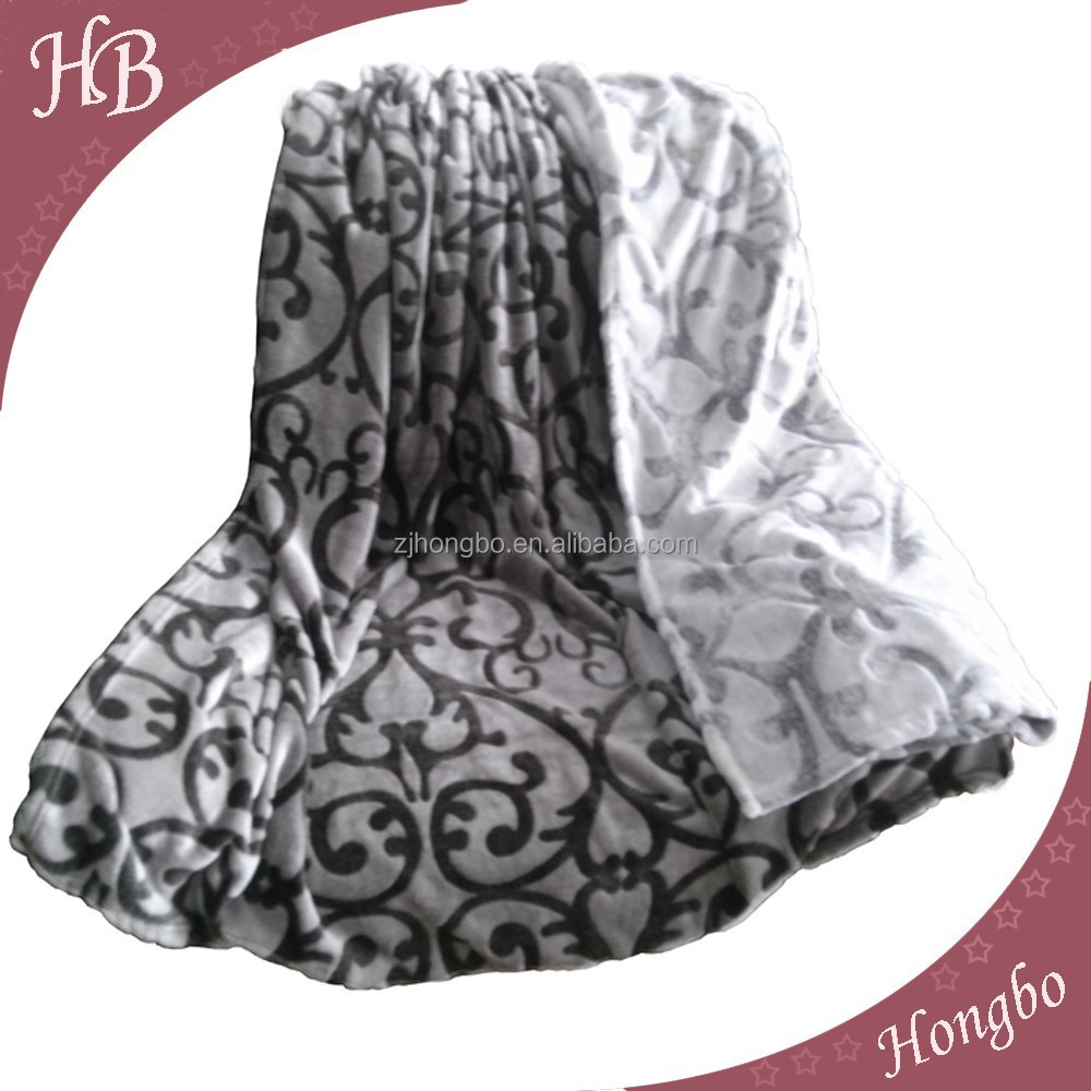 2015 New Design Super soft Flannel Throw Blanket