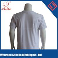 Short Sleeves White sublimation t shirt men