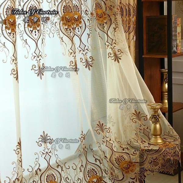 rideaux de luxe avec cantonni re broderie sheer rideau tissu rideaux id de produit 60540108562. Black Bedroom Furniture Sets. Home Design Ideas