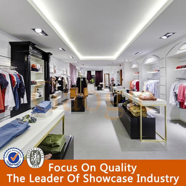 Fashionable Interior Design Garments Shop Decoration - Buy Garments ...