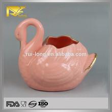 Fabricante de porcelana de cerámica ganso diferentes formas jarrones, jarrones de boda venta al por mayor