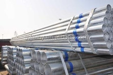 thin wall shs round galvanized steel pipes