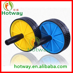 AB ROLLER EXERCIES WHEEL/DOUBLE AB WHEEL/FITNESS EQUIPMENT