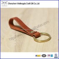 Handphone strap handmade cowhide genuine leather keyring