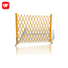 Expandable steel aluminum safety road barrier fence