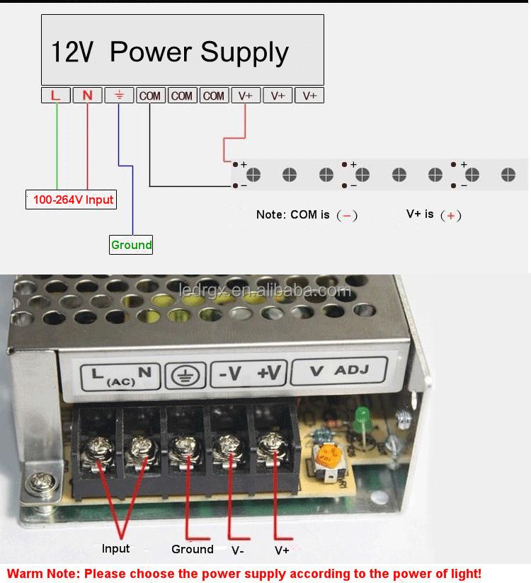Rgx 12v Led Display Power Supply Smps 12v 15w Power Supply Led Light ...