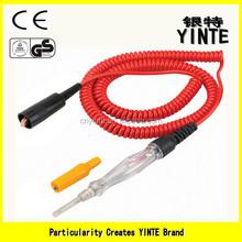 Chine usine électrique circuit testeur de tension pen / Automovie circuit pen testeur avec PU éclectique fil et importés inner tube de rouge