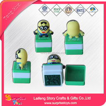 Custom made plastic shiny rubber stamp for kids