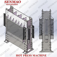 1220*2440mm Film Faced Plywood Hot Press/500 Tons Heat Press/15 Layer Hydraulic Hot Press