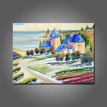Shenzhen Oil Painting Factory Supply Good Quality Tuscany Landscape Oil Painting On Canvas Abstract Landscape Paintings