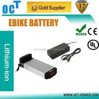 Rear rack lithium battery,36V 10Ah li ion battery for ebike