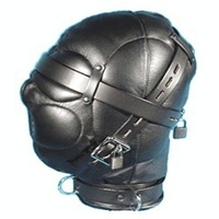 Top Quality Leather&Senior PU Black Masks/Hoods come with Lock Adult Sex Games For Couples Sex Toys Sex Flirting Product