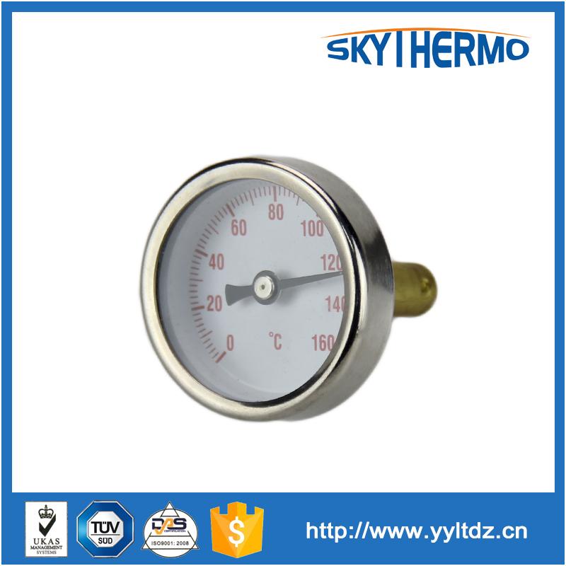Полностью из нержавеющей стали 304 материала для тестирования воды 120c котел биметаллический термометр