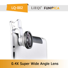 Hot sale Funning photograph 0.4x optical glass ball lens ip lens LQ-002 SUPER WIDE 0.4X camera lens for mobile phone